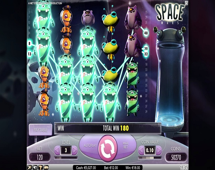 Machine à sous Space Wars gratuit dans NetEnt casino