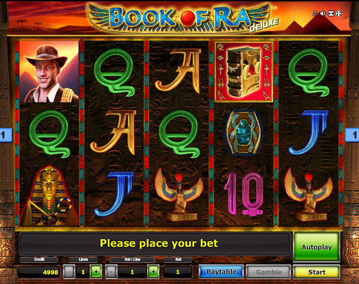 Machine à sous Book of Ra Deluxe gratuit dans Novoline casino