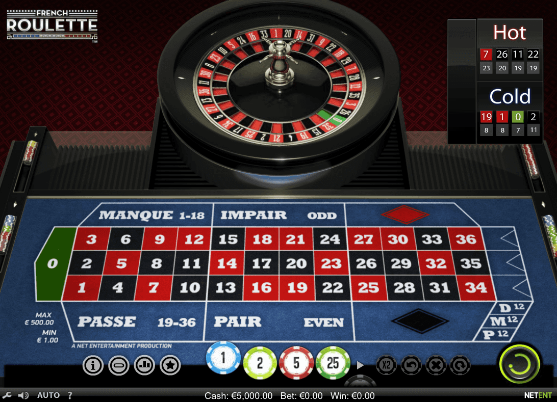 french roulette gratuit en ligne