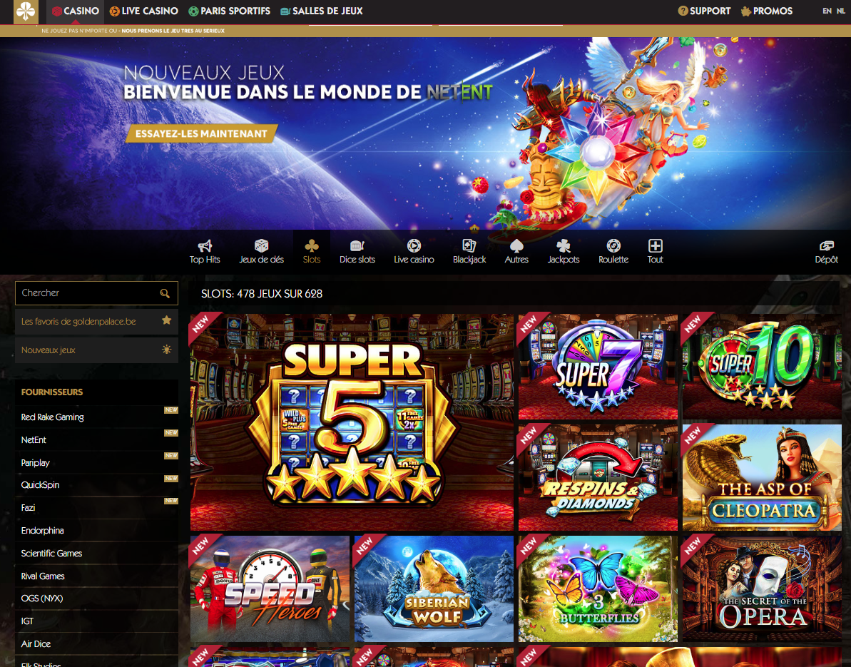 golden palace casino en ligne