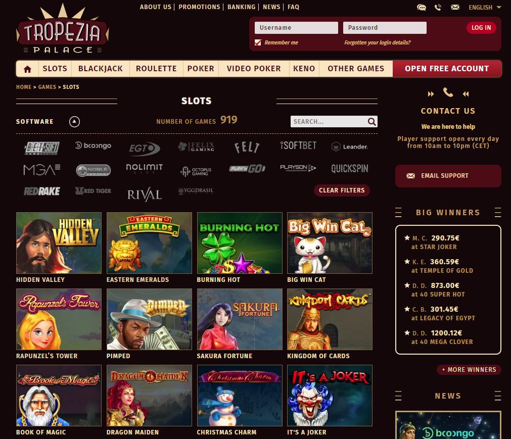 tropezia palace casino en ligne